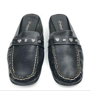 Brighton Leather Jeweled Mules